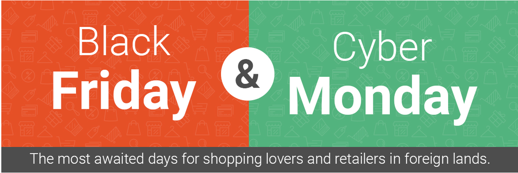 The buying selling power of black friday and cyber monday infographic